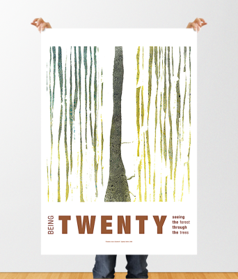 Rachel Oglesby Poster Design Being Twenty