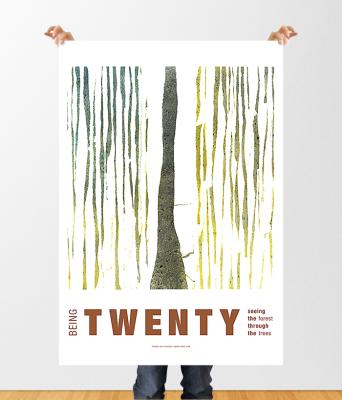 Rachel Oglesby Poster Design Being Twenty