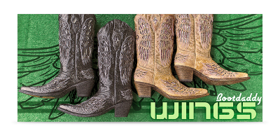 Rachel Oglesby BootDaddy Wings Banner Design