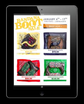 Rachel Oglesby Email Design Bandana Boot Sale