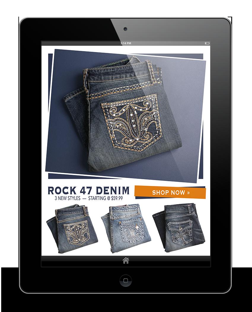 Rachel Oglesby Email Design Rock 47 Jeans